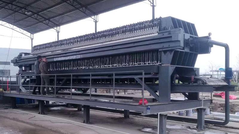 北控水务集团使用昊旺环保立式压滤机进行污水治理